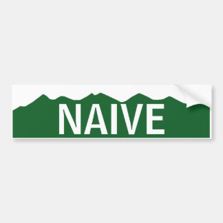 Naive Colorado Bumper Sticker
