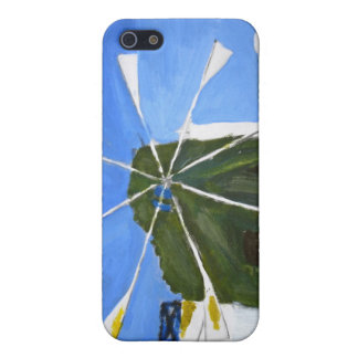 Naive Painting of a Windmill iPhone 4 Case