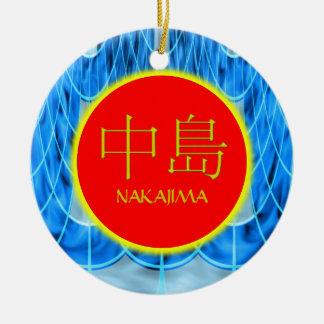 Nakajima Monogram Fire & Ice Round Ceramic Decoration