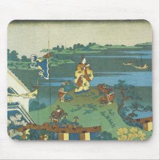 Nakamaro Watching the Moon, Hokusai, 1835 Mouse Pad