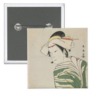 Nakamura Noshio II as Tonase, 1795 15 Cm Square Badge