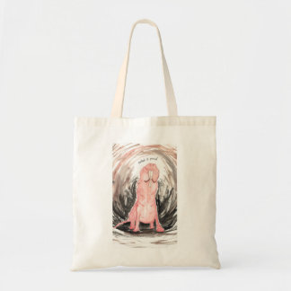 Naked (& Proud) Mole Rat Budget Tote Bag