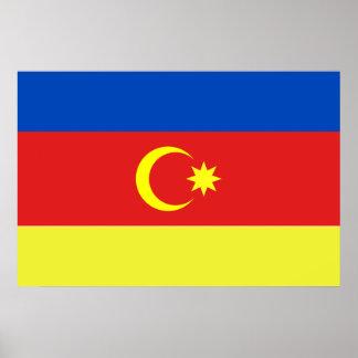 Nakhitxevan, Azerbaijan flag Poster