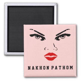 Nakhon Pathom, Thailand Woman Girlfriend Wife Square Magnet
