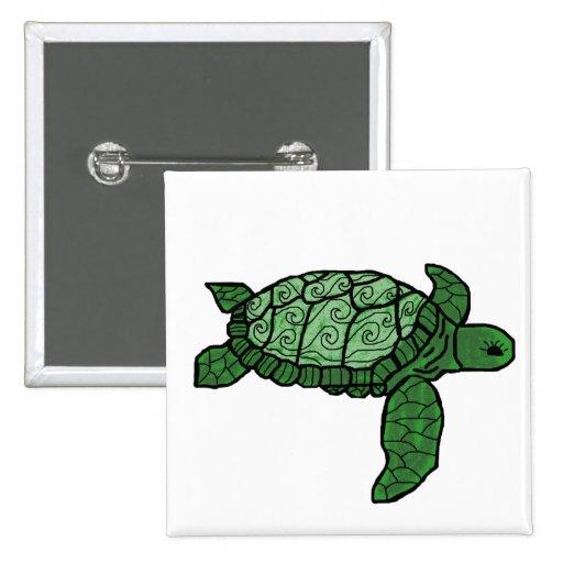Nalu Honu (wave sea turtle) button