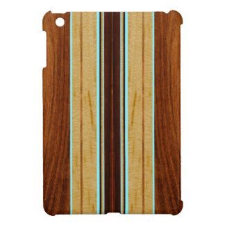 Nalu Hou Faux Koa Wood Surfboard iPad Mini Cases