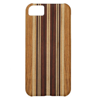 Nalu Lua Faux Koa Wood Surfboard iPhone 5 Cases
