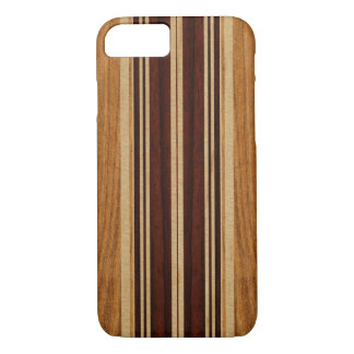 Nalu Lua Faux Koa Wood Surfboard iPhone 7 Case