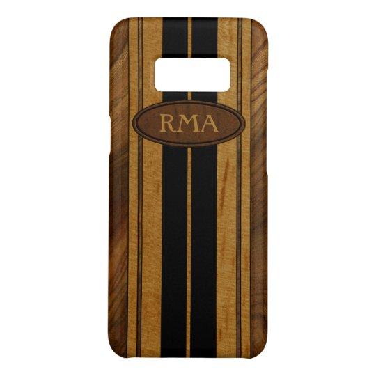 Nalu Mua Faux Koa Wood Monogram Surfboard Case-Mate Samsung Galaxy S8 Case