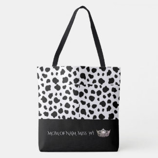 NAM Miss WI Silver Crown Tote Bag-Lrg Spotted-MOM