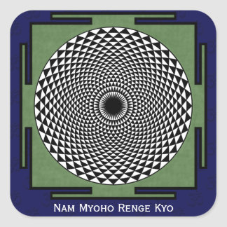 Nam Myoho Renge Kyo mantra Square Stickers
