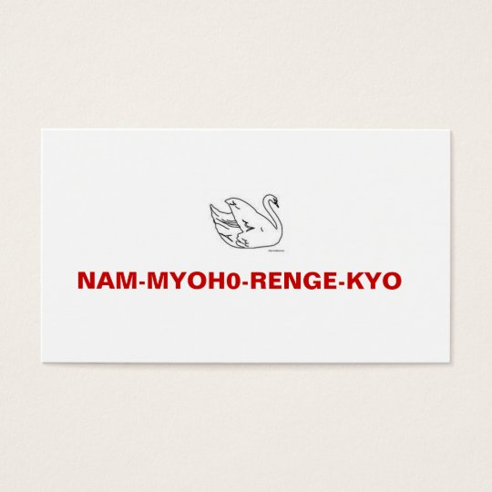 NAM-MYOHO-RENGE-KYO Meeting Invitation Card