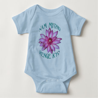 Nam Myoho Renge Kyo with Lotus Flower Design Baby Bodysuit