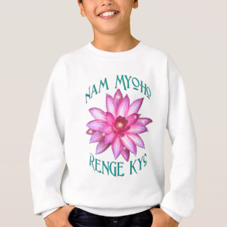 Nam Myoho Renge Kyo with Lotus Flower Design Sweatshirt