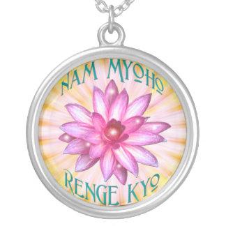 Nam Myoho Renge Kyo with Lotus Flower Necklace