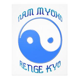 'Nam Myoho Renge Kyo' Yin & Yang Buddhism 21.5 Cm X 28 Cm Flyer