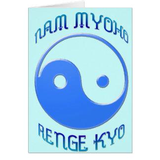 'Nam Myoho Renge Kyo' Yin & Yang Buddhism Card