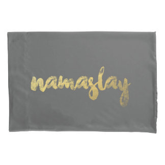 Namaslay Gold & Grey PillowCase