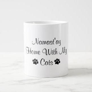 Namast'ay Home With My Cats Giant Coffee Mug
