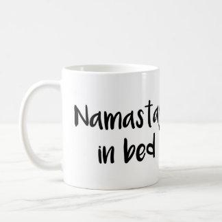 Namastay in bed Mug