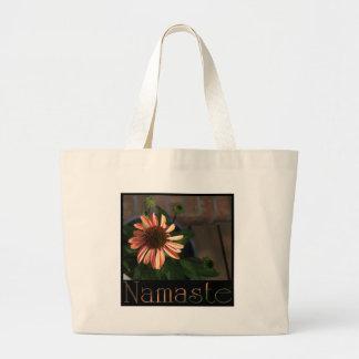 Namaste 3 large tote bag