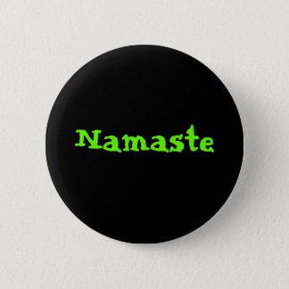 Namaste 6 Cm Round Badge