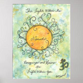 Namaste affirmation art print