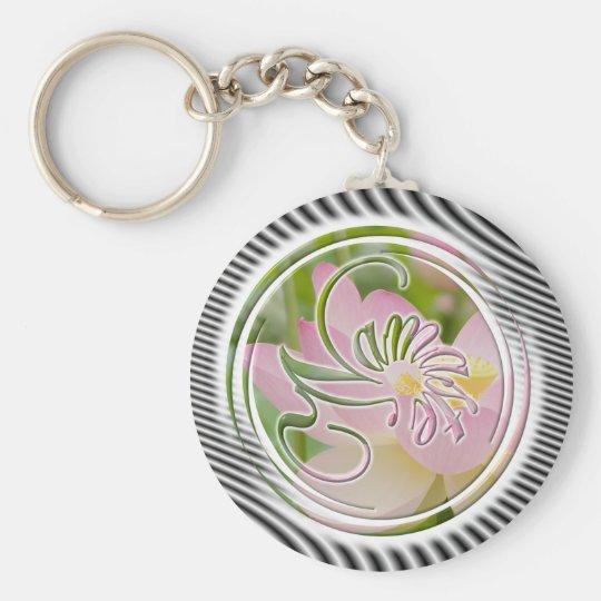 Namaste Basic Round Button Key Ring