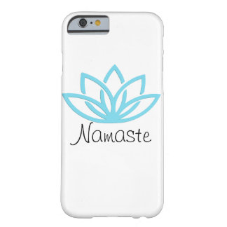 Namaste Blue Simple Lotus Phone Case