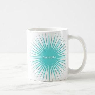 namaste blue sun mug