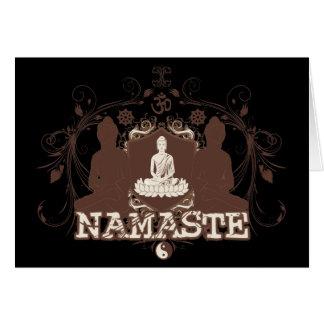 Namaste Buddha Card