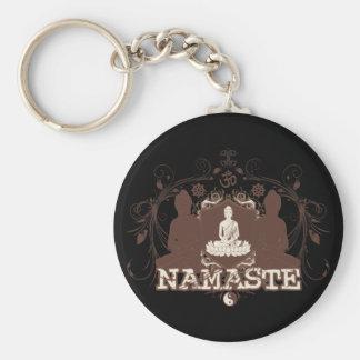 Namaste Buddha Key Ring