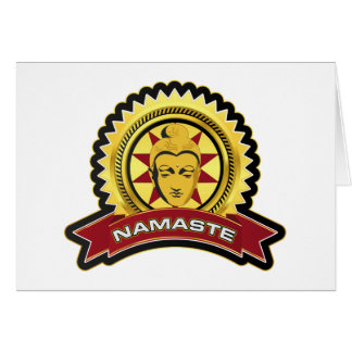 Namaste Buddha Logo Cards