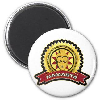 Namaste Buddha Logo Fridge Magnets