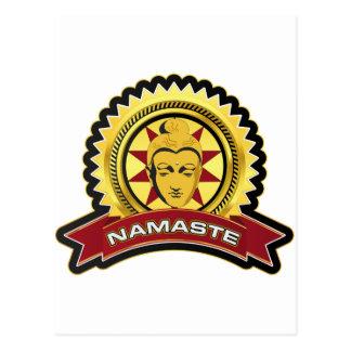 Namaste Buddha Logo Postcards