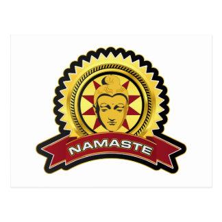 Namaste Buddha Logo Postcard