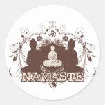 Namaste Buddha Round Stickers