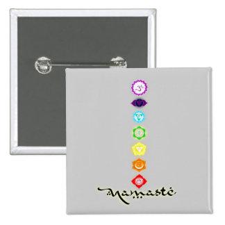 Namaste Chakras Button