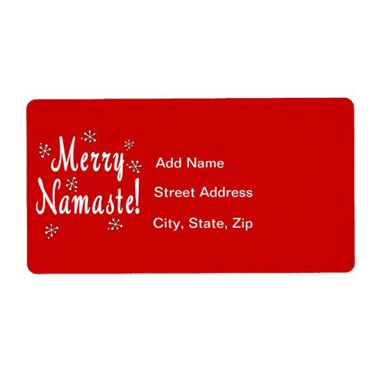 Namaste Christmas Shipping Label