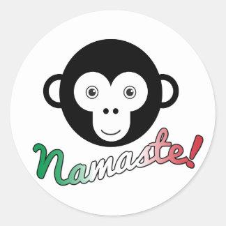 Namaste Classic Round Sticker