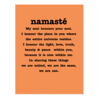 Namaste Collection Postcard
