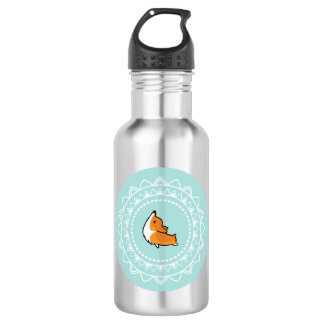 Namaste Corgi Emblem Water Bottle