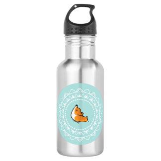 Namaste Corgi Emblem Water Bottle 532 Ml Water Bottle