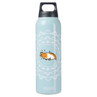 Namaste Corgi Pose 2 Large Hot+Cold Bottle