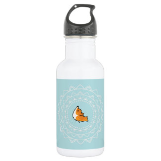 Namaste Corgi Water Bottle