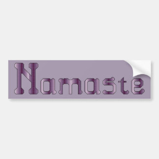 Namaste Cross Stitch Bumper Sticker