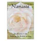 Namaste Divinity Flower Card
