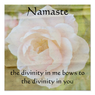Namaste Divinity Flower Poster