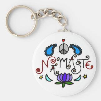 Namaste Doodles Key Ring