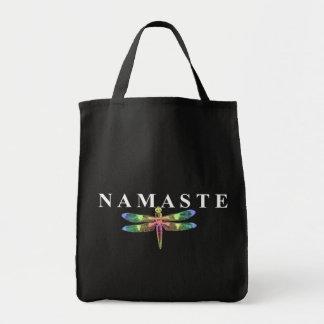 Namaste Dragonfly (Dark Background)